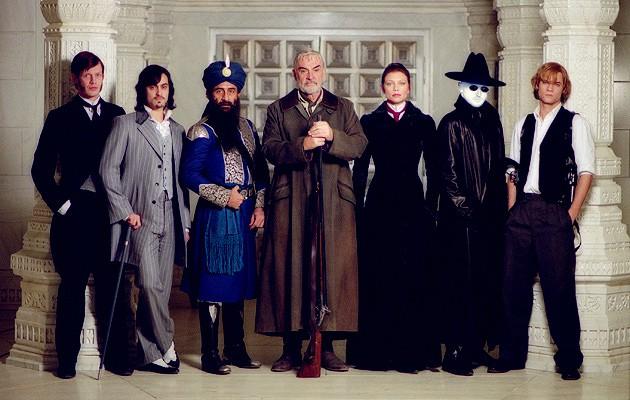 Los personajes principales de la Liga Extraordinaria de Caballeros