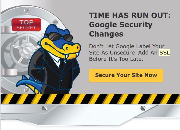 Hostgator ofreciendo el servicio de SSL.