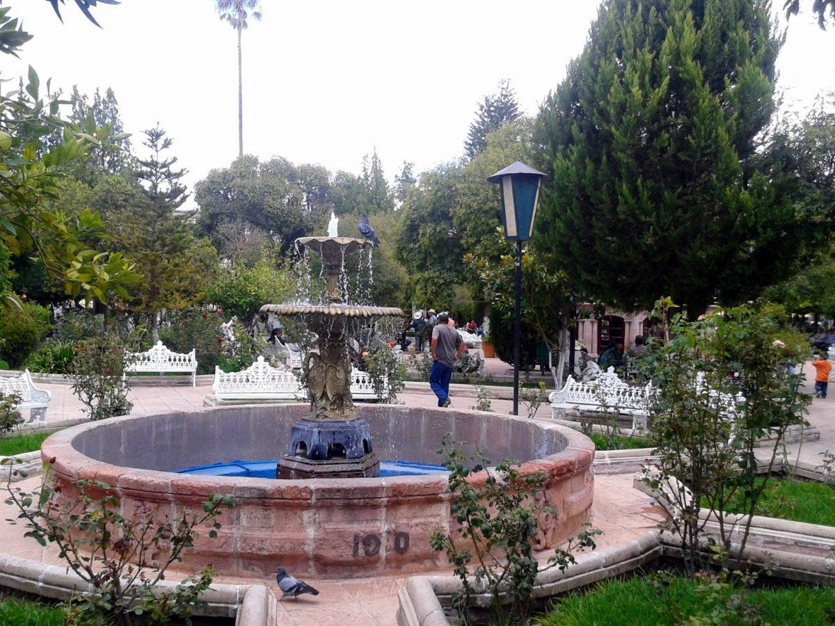 Jardín principal de Jerez Zacatecas.