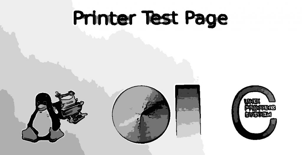 printer test page cups