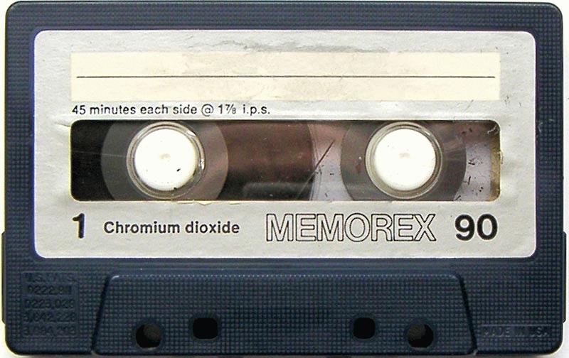 El famoso cassette Memorex de 90 minutos.