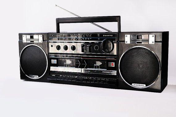 reproductor de doble cassette. Estas grabadoras eran la onda.