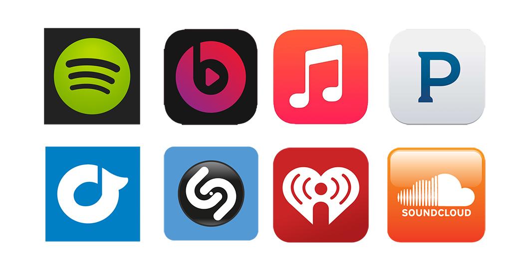 Varios servicios de música por internet.