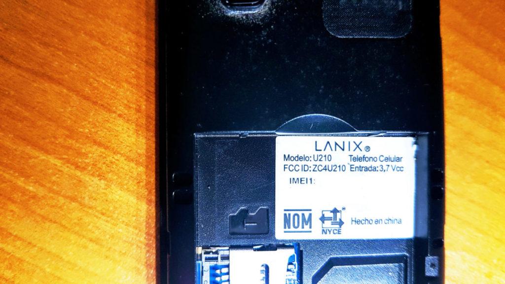 Teléfono Lanix U210.