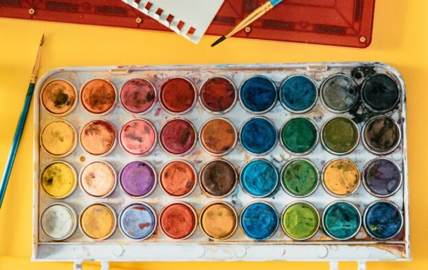 paleta de colores acuarelas