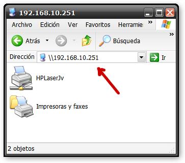 Impresora en el otro lado de la VPN