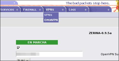 Zerina VPN para IPCop